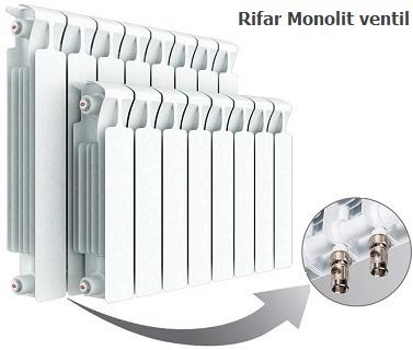 Биметаллический радиатор RIFAR Monolit ventil - с нижним подключением