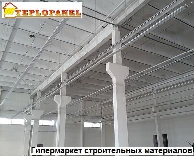 Отопление потолочными водяными панелями гипермаркетов